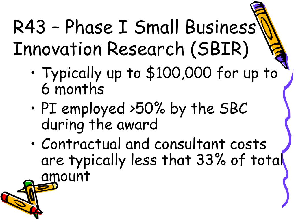R43 – Phase I Small Business Innovation Research (SBIR)