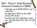 r43 phase i small business innovation research sbir