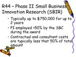 r44 phase ii small business innovation research sbir