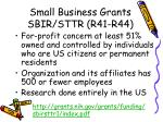 small business grants sbir sttr r41 r44