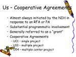 us cooperative agreements