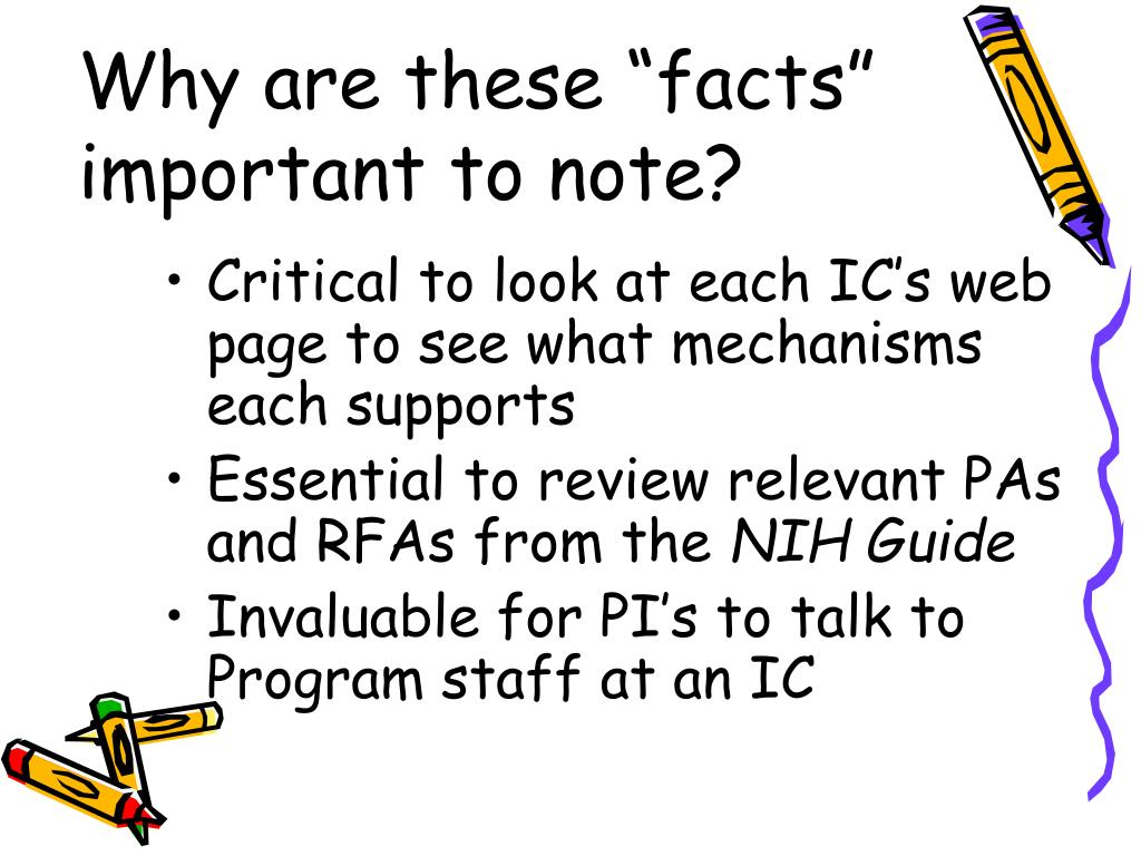 """Why are these """"facts""""         important to note?"""