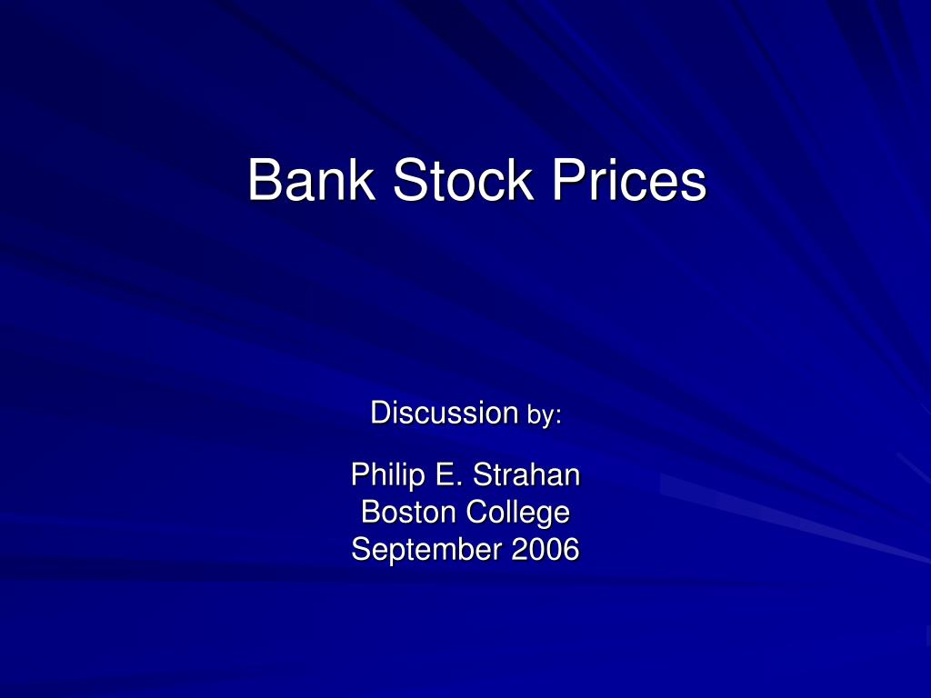 bank stock prices l.