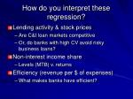 how do you interpret these regression6
