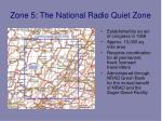 zone 5 the national radio quiet zone