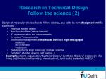 research in technical design follow the science 2