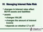 iv managing interest rate risk