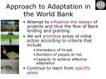 approach to adaptation in the world bank