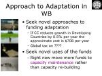 approach to adaptation in wb11