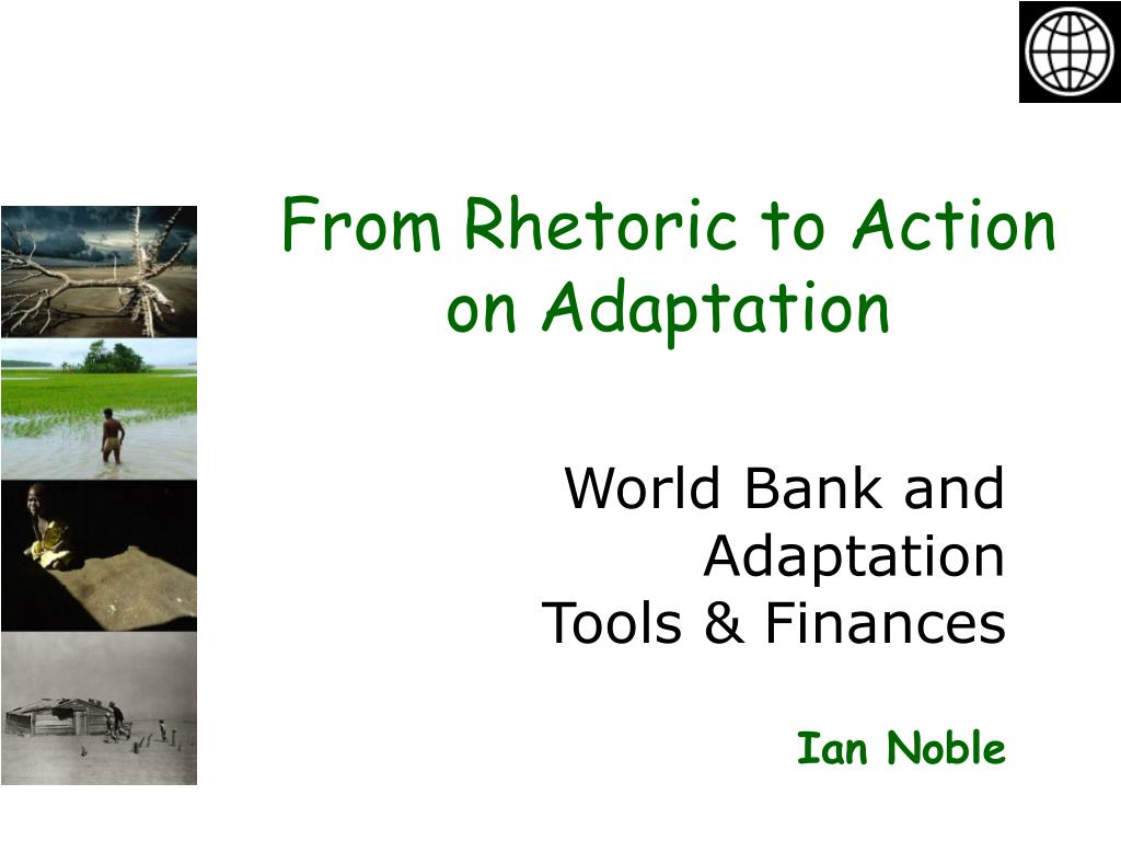 world bank and adaptation tools finances ian noble l.