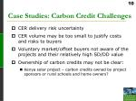 case studies carbon credit challenges