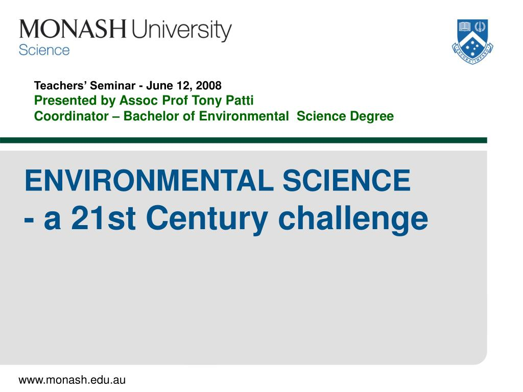 environmental science a 21st century challenge l.