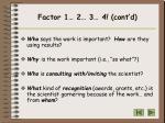 factor 1 2 3 4 cont d