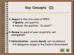 key concepts i