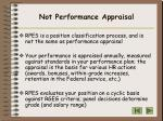 not performance appraisal