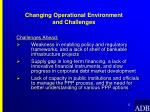 changing operational environment and challenges12