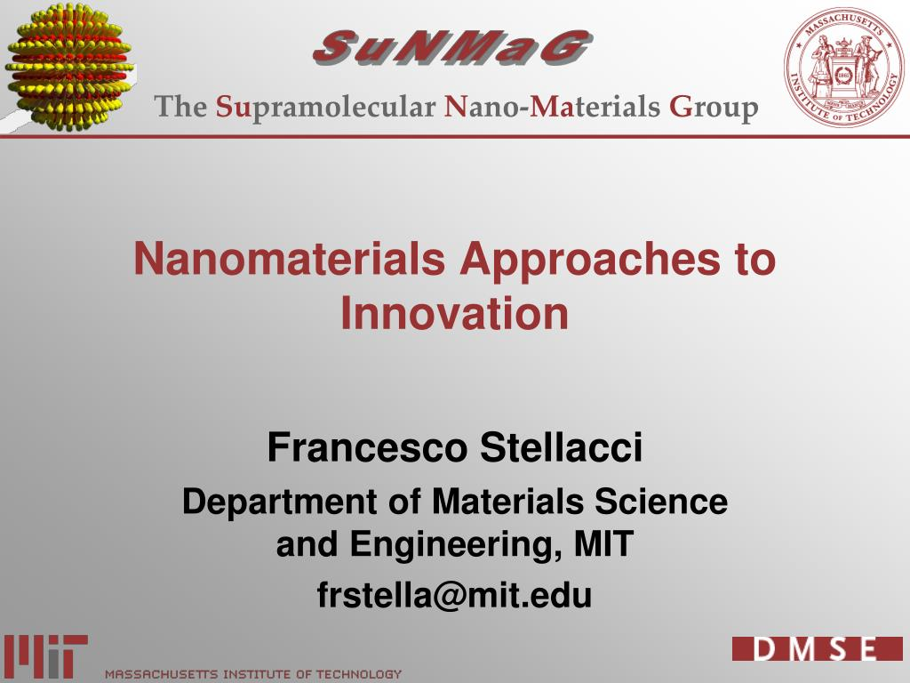 nanomaterials approaches to innovation l.