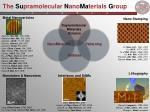 the su pramolecular n ano ma terials g roup22