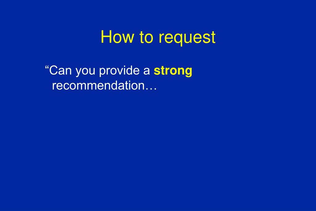 How to request