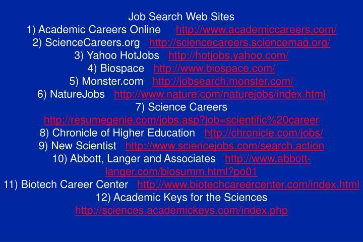 Job Search Web Sites