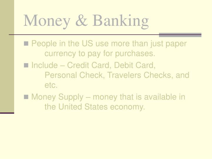 Money banking2