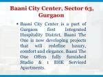 baani city center sector 63 gurgaon
