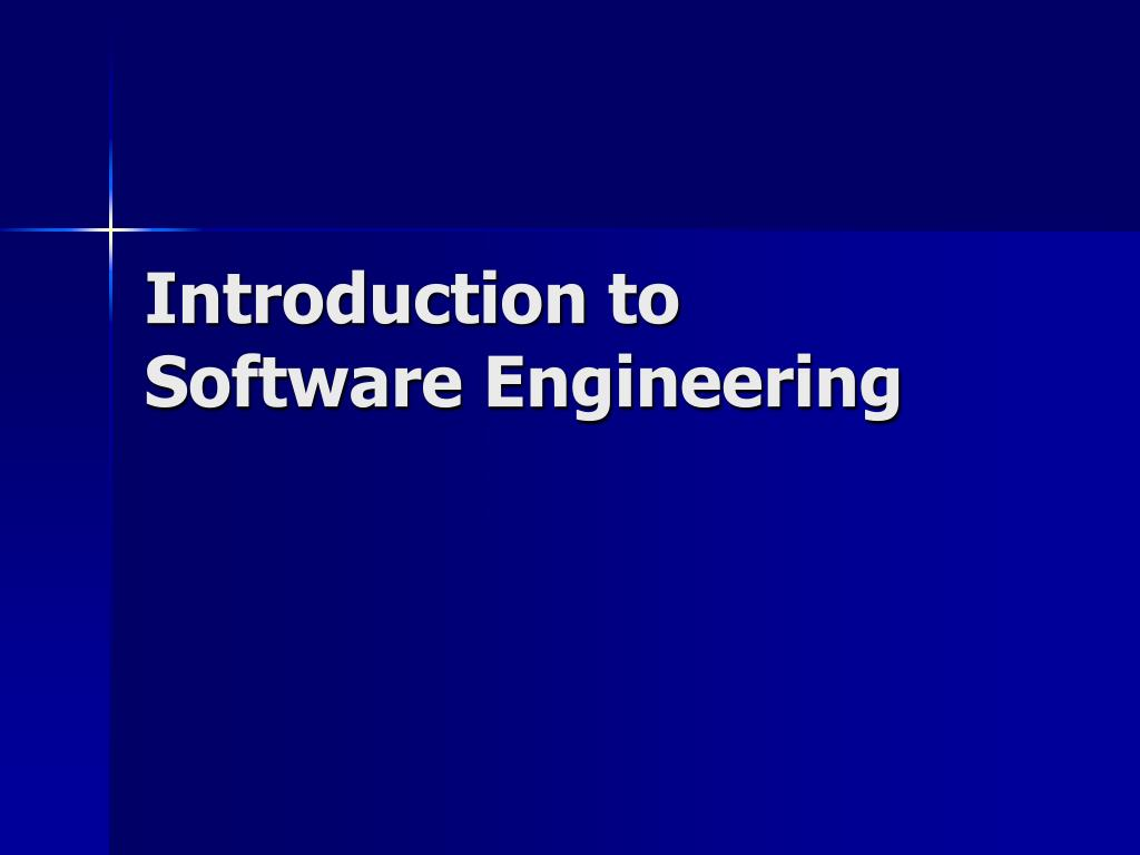 introduction to software engineering l.