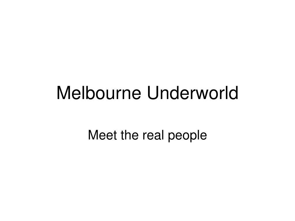 melbourne underworld l.