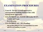examination procedures22