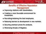 benefits of effective reputation management