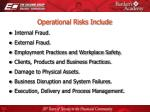 operational risks include