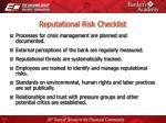 reputational risk checklist