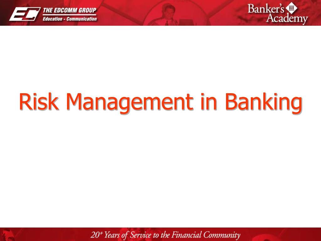 risk management in banking l.