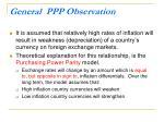 general ppp observation