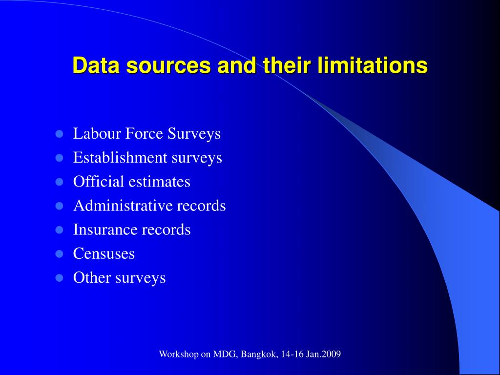 Data sources and their limitations