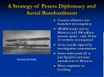 a strategy of peseta diplomacy and aerial bombardment