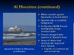 al hoceima continued