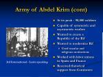 army of abdel krim cont
