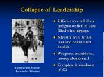 collapse of leadership