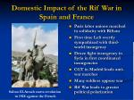 domestic impact of the rif war in spain and france