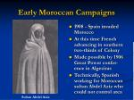 early moroccan campaigns