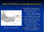 major problems of the spanish army