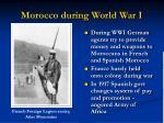 morocco during world war i