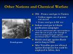 other nations and chemical warfare