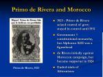primo de rivera and morocco