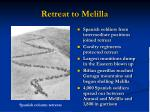 retreat to melilla