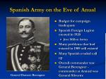 spanish army on the eve of anual