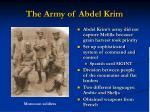 the army of abdel krim