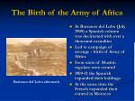 the birth of the army of africa