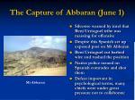 the capture of abbaran june 1